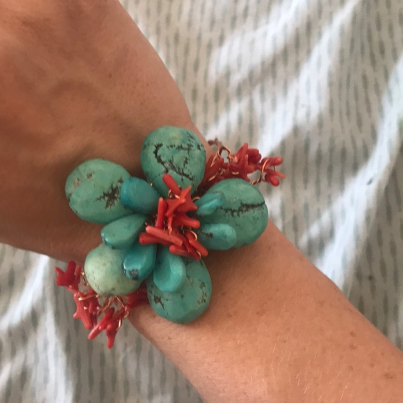 Jewelry - Turquoise and coral bracelet